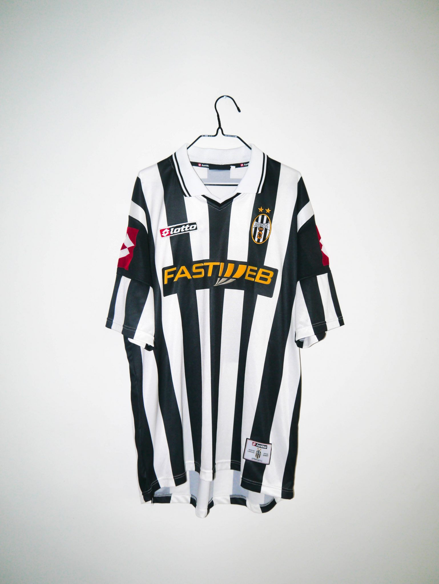 5f840cede32 Home   Shop   Italian Clubs   Juventus   Original 2001-02 Juventus home  jersey -XL