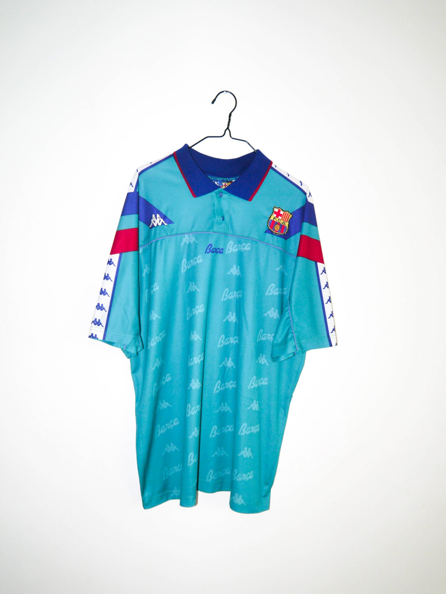 5227c70a4 Home   Shop   Spanish Clubs   FC Barcelona   Original 1992-95 FC Barcelona  away jersey + shorts – L