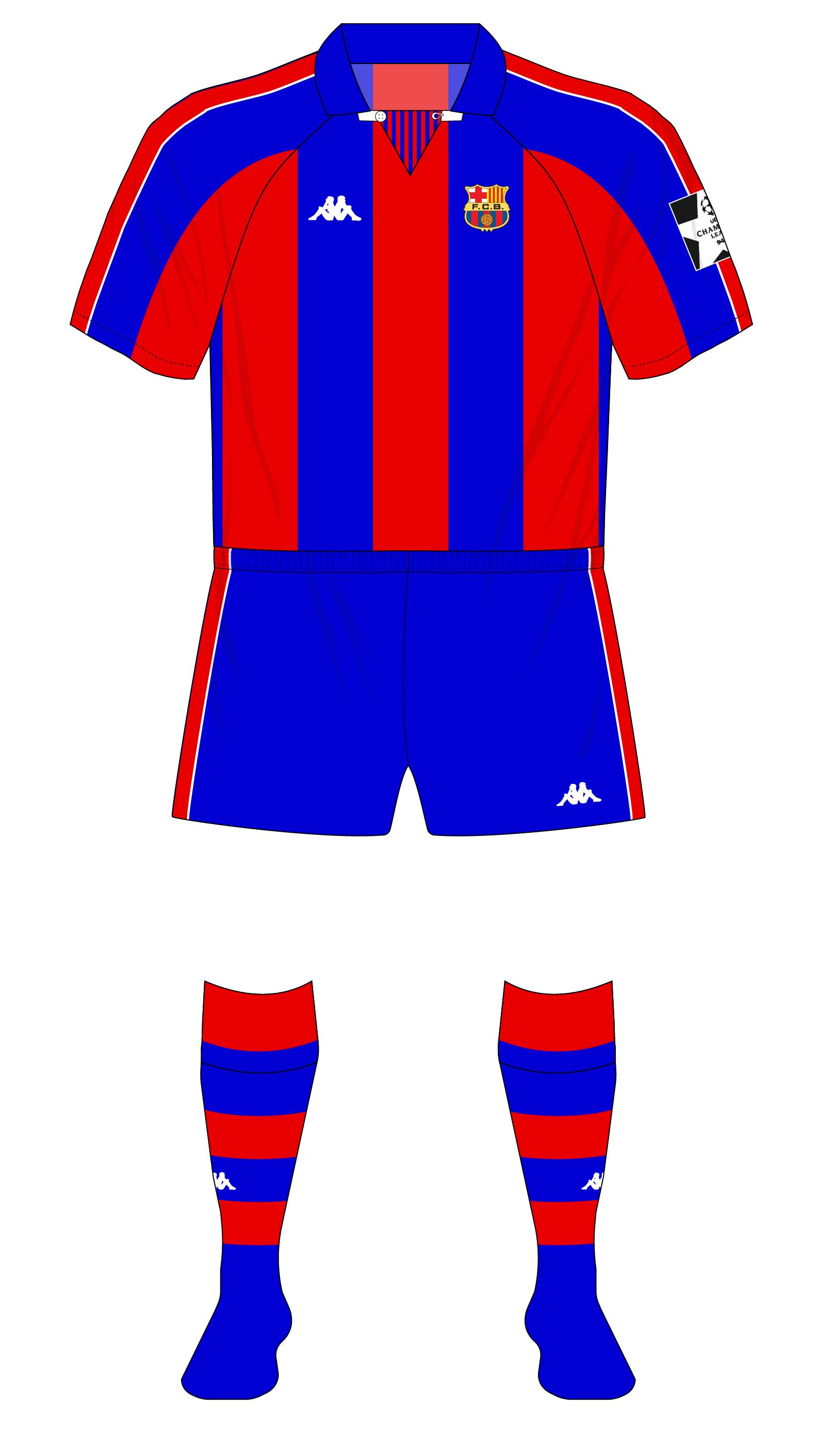 online store 9239a becde Barcelona-1994-1995-Kappa-European-kit-01 | RB Jerseys