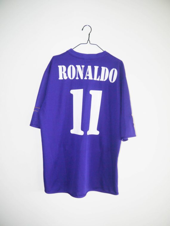 new products 597d2 7c9a0 Original 2002-03 Real Madrid third jersey #11 RONALDO - XL