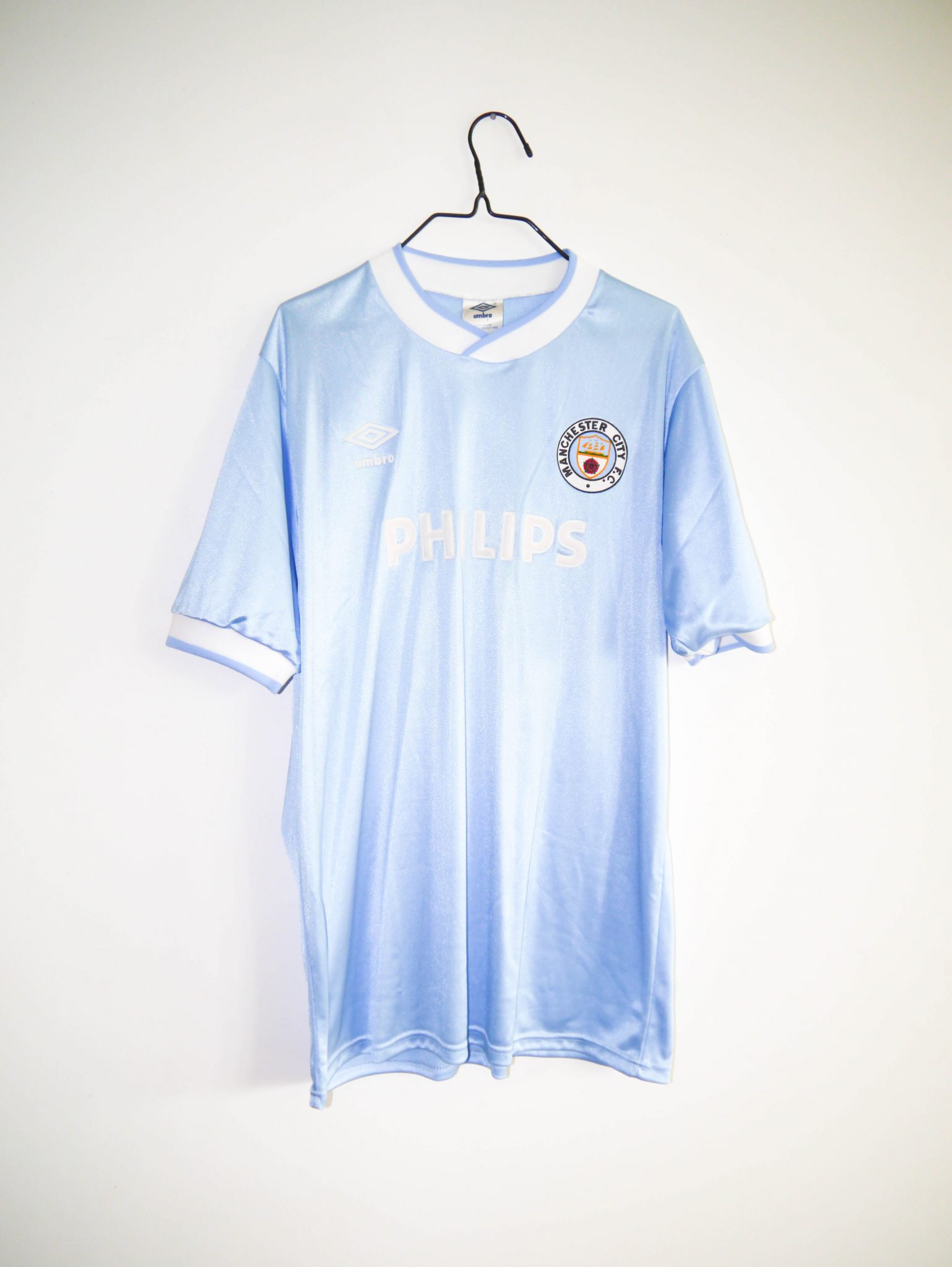 first rate 2b336 16b43 Original 1985-87 Manchester City home jersey (#2) - L